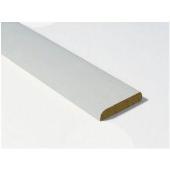 MDF plint wit gegrond 12x55x4880 mm